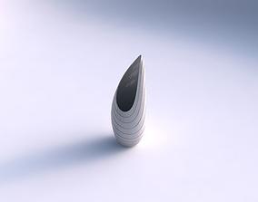 3D print model Vase Tsunami with hard horizontal dents