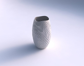 3D print model Vase twisted with wavy grid plates