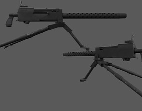 M1919 Browning - American WW2 Weapon 3D asset