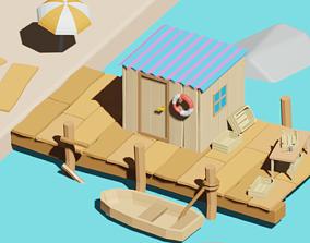beach 3D asset