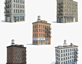 3D model 5 Apartment Buildings Collection 4