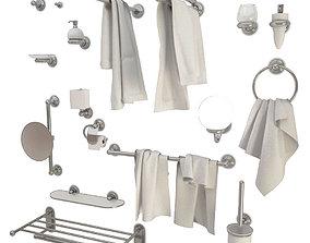 Bathroom Accessories Astor hook 3D model