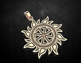 Pendant Kolovrat symbol of the Sun 323 3D print model