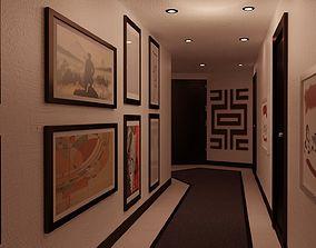 Modern Hallway 3D