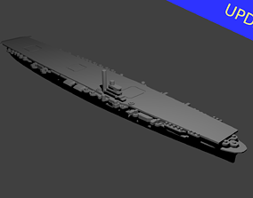 Japanese Shokaku Class Aircraft Carrier 3D print model
