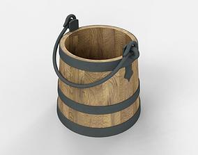 Bucket 3D asset rigged