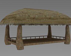 Thatched pavilion 3D model