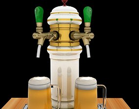 Chinese beer tab and beer cup 3D