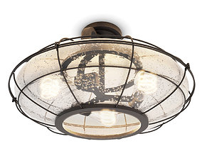 Industrial Ceiling Lamp Connell 3D