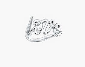 3D print model Ring Love V2