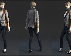 Jeans with jacket 3D