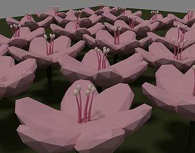 3D asset realtime Flower