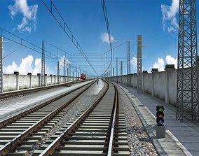 Railroad Track 3D