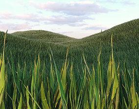 3D model Grass Low Poly 1