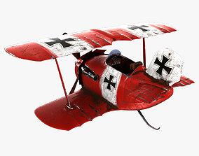 Cartoon Airplane 3D asset PBR