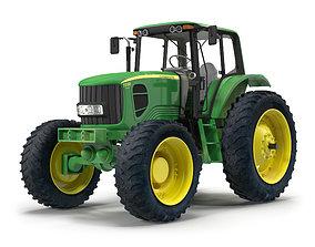3D model Tractor John Deere 7330