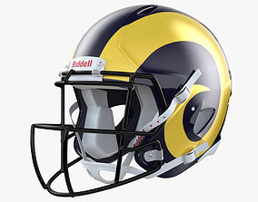 3D model LA Rams Football Player Helmet