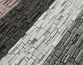 Paving brick smooth 3D model