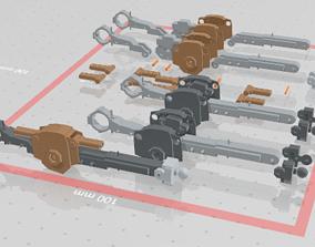 3D print model MG GUNDAM v1-5 LEG and KNEE joint