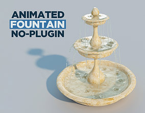 Water fountain with 10 seconds of flowing water 3D