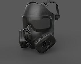3D asset Helmet gas mask