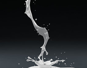Splash 01 milk 3D