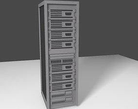 3D model Server Rack - Low Poly