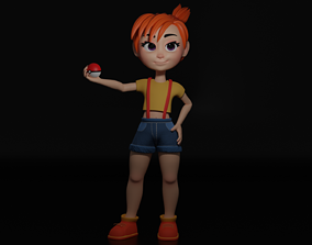 Cartoon Girl 3D model rigged game-ready pikachu