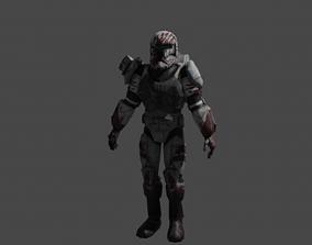 Sev Commando Basic Rig 3D model