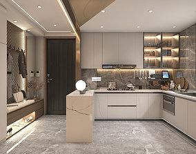 Kitchen and vestibule 3D model