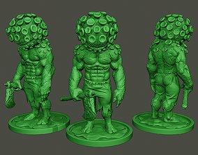 3D print model Humanoid virus 0001