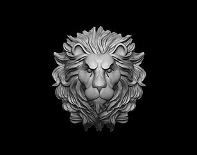 Lion head for pendant or wall 3D print model