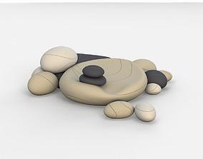 3D Floor chair cushions stones Smarin factory