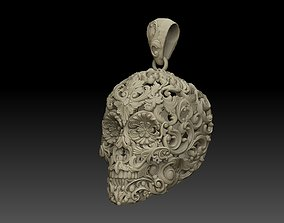 Skull ornamental pendant jewelry 3D print model