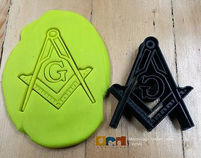 3D printable model Freemasonry Logo cookie cutter