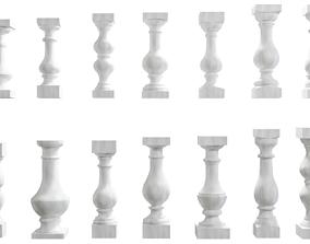 3D Banister Collection 14 models