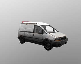 Mini Van - Lowpoly Game Ready 3D asset