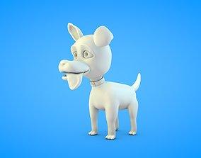 3D print model White Dog Figure