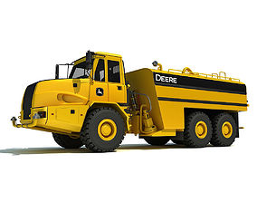 3D model Yellow John Deere Water Wagon