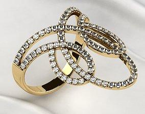 citrine Fashion Gold Ring 3D printable model