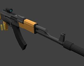 AK 47 3D asset animated