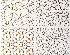 Set panel lattice grille 3D 43