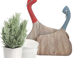 3D model Kitchen decor set 1 design