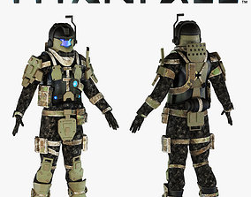 3D Titanfall pilot