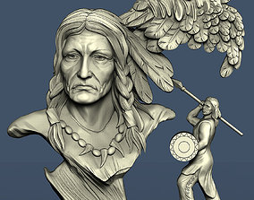 3d STL model for CNC Indian and eagle