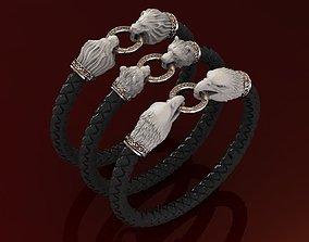 Collection Men Bracelet in Scandinavian Knot Style 3D