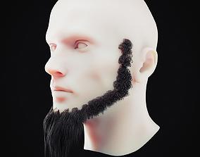 3D asset Beard Low Poly 4