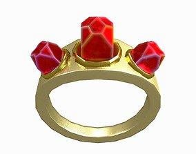 3D model Gemstone Ring