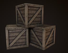 Wooden Box 3D model VR / AR ready