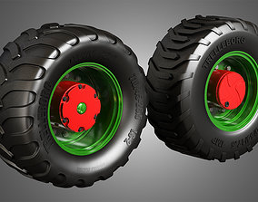 Truck Tires and Wheels-T05 3D